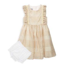 NWT Elegant gold strips Pippa & Julie dress